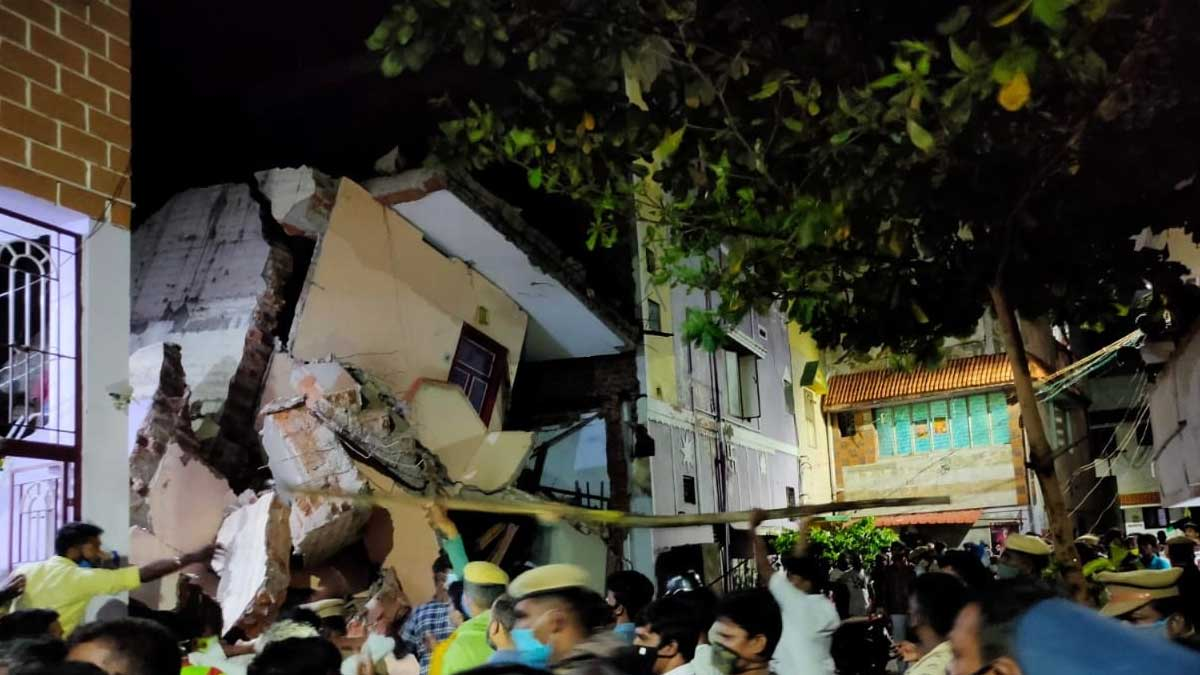Coimbatore Building Collapsed Yesterday :  Two found Dead