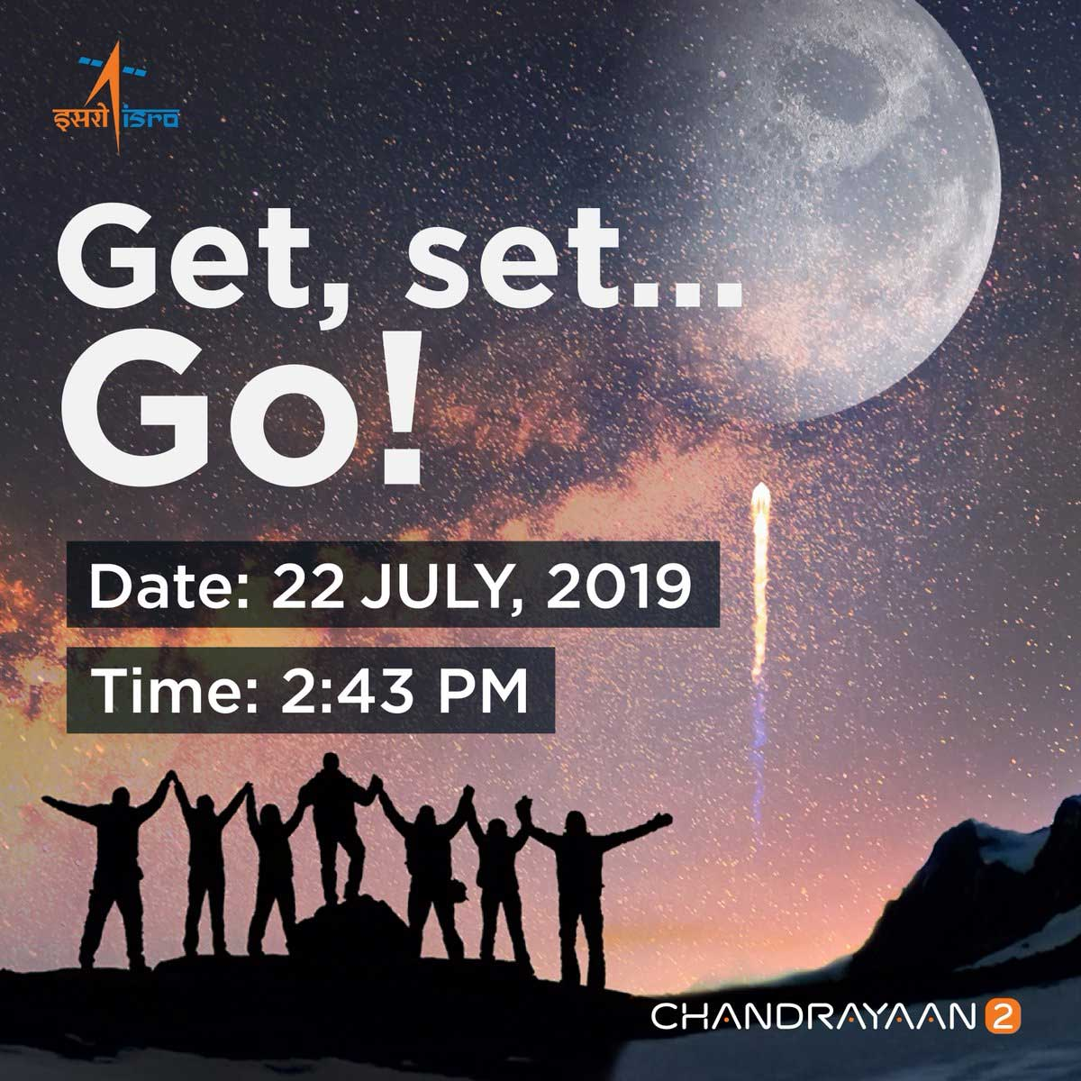 Chandrayaan 2 New Launch Date Fixed on Jully 22nd 2019