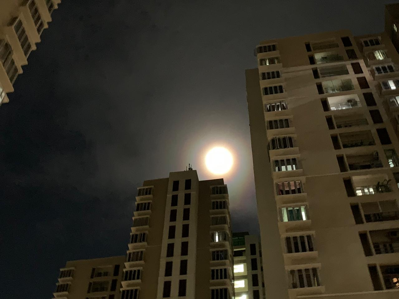 The Rainbow Around the Moon in Chennai Today September 13th 2019