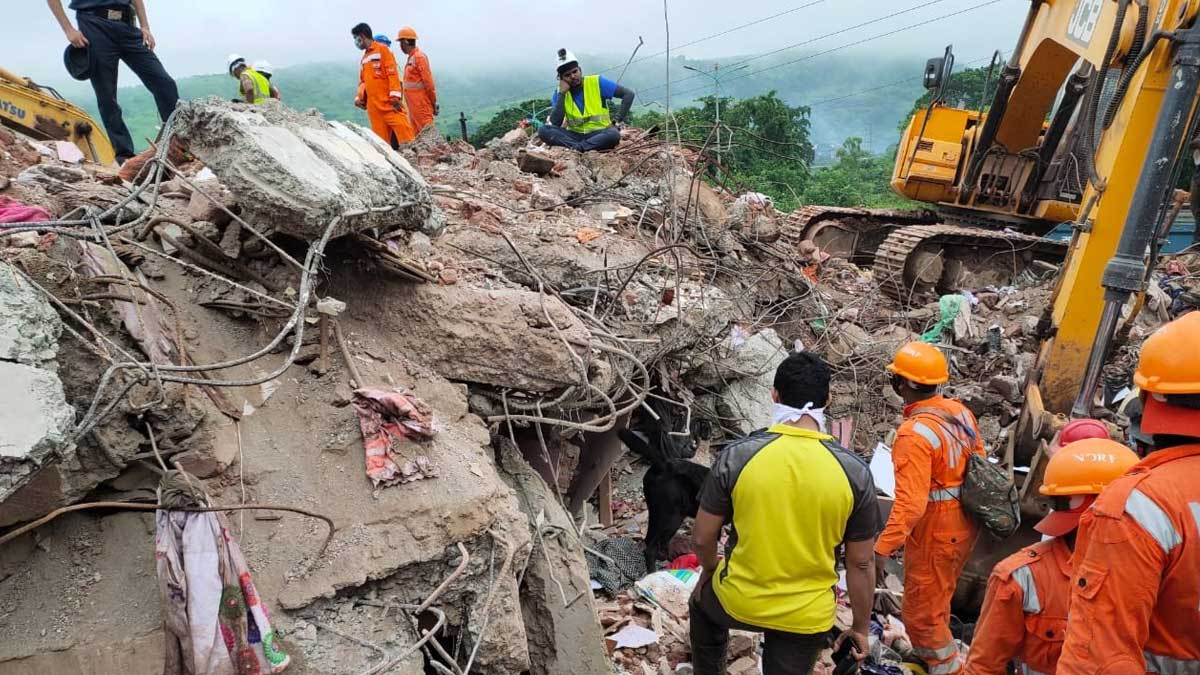 Maharastra building collapse kills 4 and 25 still trapped under the debris