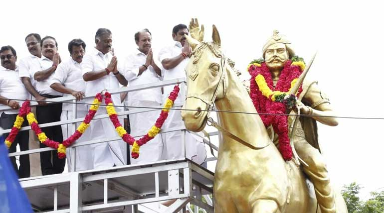 EPS honours Dheeran Chinnamalai Statue in Guindy