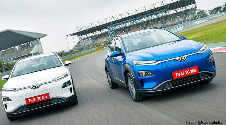 Hyundai Kona Electric Car Green Flagged by Tamil Nadu CM Edappadi K. Palaniswami