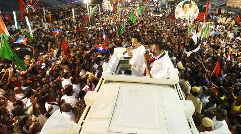 DMK Leader Stalin in Vellore: Water Shortage, Youth Unemployment and his party MPs Achievement