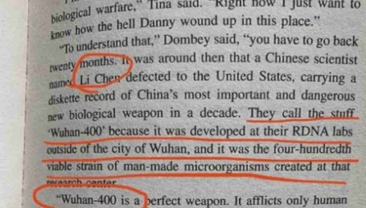 The Eyes of Darkness Novel Predicted Coronavirus Breakout and Named it Wuhan-400