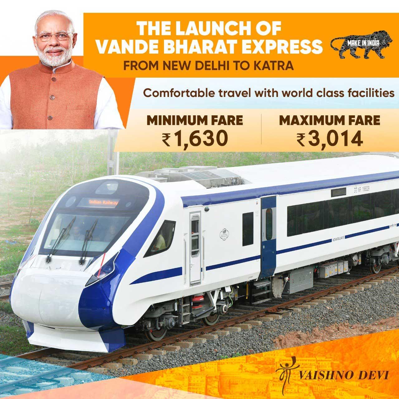 Vande Bharat Express realizes Gandhiji's vision of Swadeshi and fillips Narendra Modi's Make in India