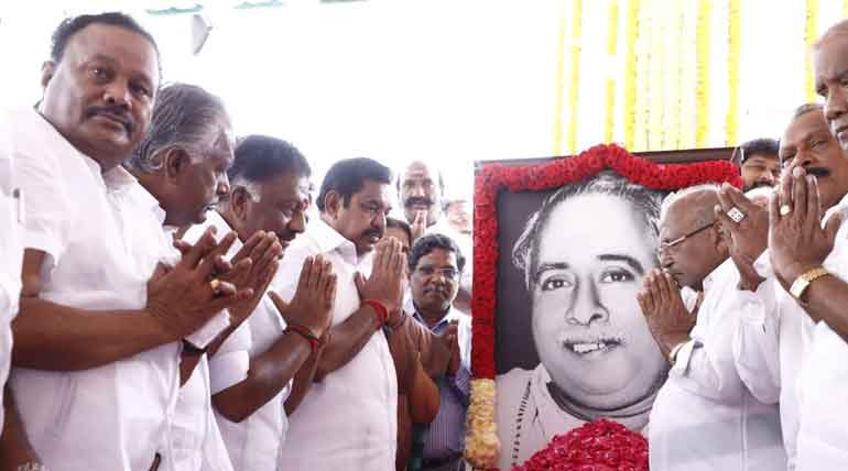 Arignar Anna's 111th Birthday was Celebrated Exorbitantly by DMK and AIADMK