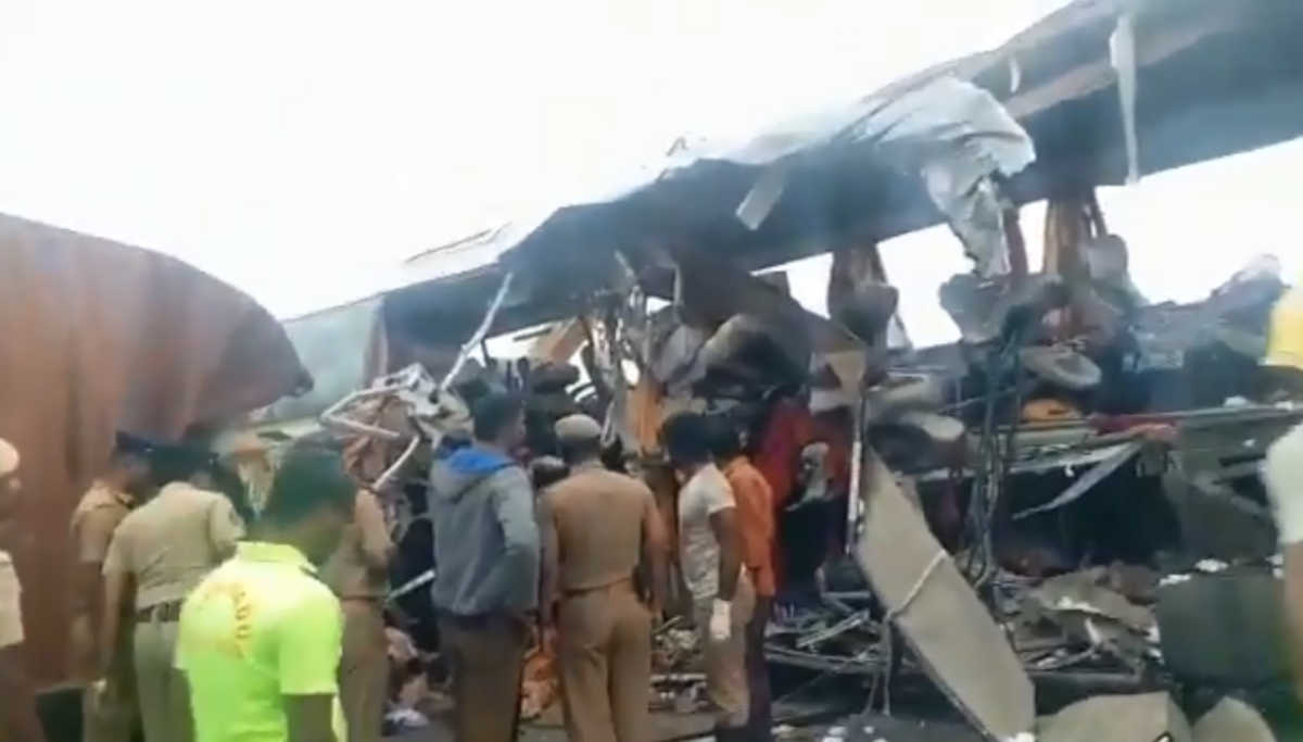 Tirupur Bus Accident: Death Toll Rises to 19 and Most of the Deceased are from Palakkad