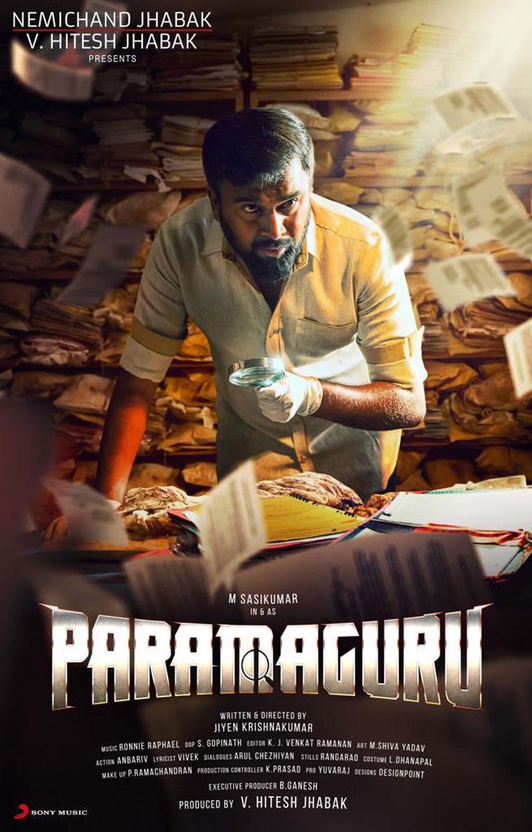 SasiKumar Next Movie Title as Paramaguru and its First Look Poster