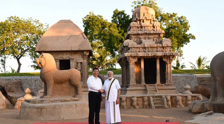 China President Xi Jinping and PM Modi held informal meetings in Mamallapuram