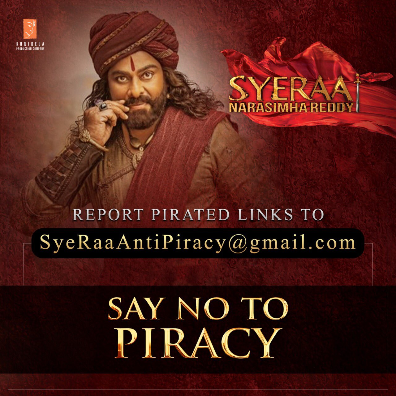 Sye Raa Narasimha Reddy: Report Tamilrockers Download Link to KonidelaPro Email id