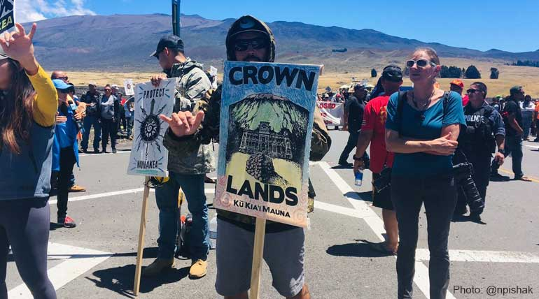 Mauna Kea Protest Against Telescope Native Hawaiians