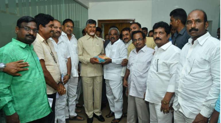 ChandraBabu Naidu Meeting with Party Seniors and Members