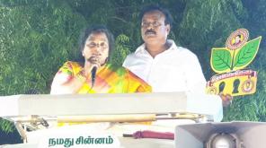 Tamilisai Soundararajan at Thiruparankundram campaign