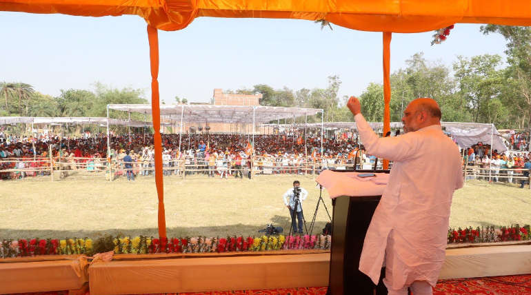 BJP President Amit Shah in Election Rally 2019