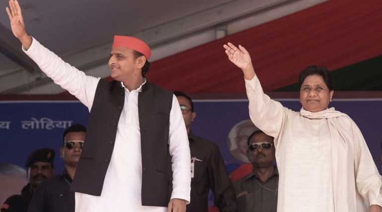 Akhilesh and Mayavati in voting campaign