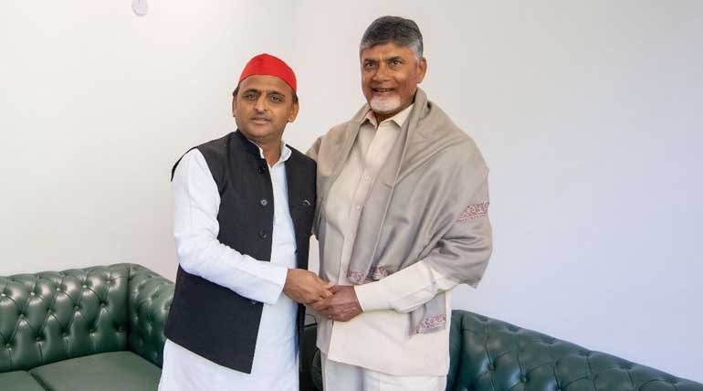 Chandrababu Naidu meeting Akhilesh