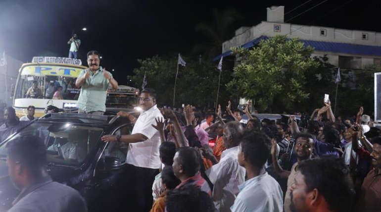 KamalHaasan Speech on First Hindu Terrorist in Aravakurichi Campaign.