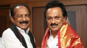 Vaiko met the DMK leader Stalin at Anna Arivalayam