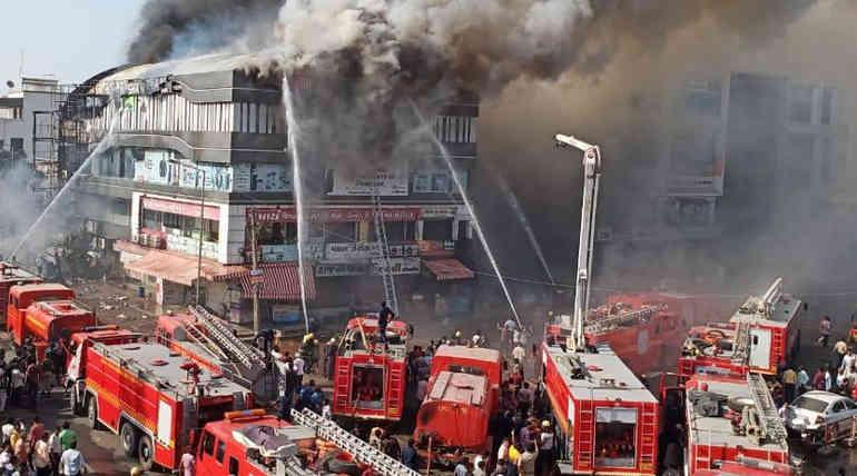 Surat Building Fire Updates