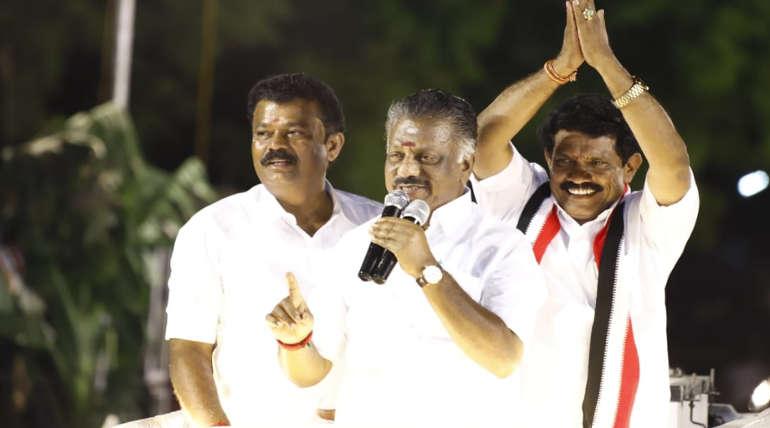 Tamilnadu Deputy CM O Panneer Selvam in Campaign
