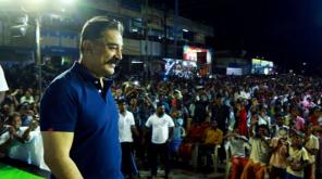 Kamal Hassan Back in Cinema. Kamal Haasan in Sulur Campaign.