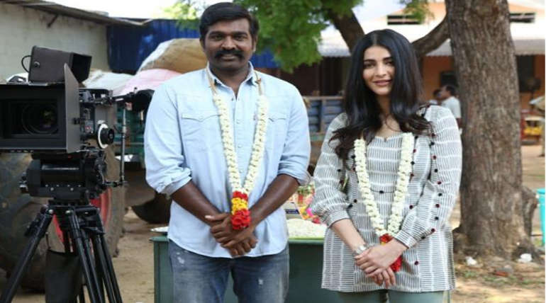 Vijay Sethupathi and Shruthi in Laabam