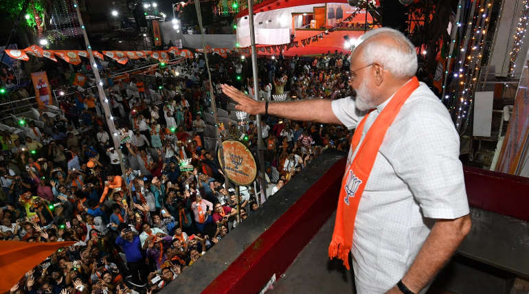 Narendra Modi in Ahmedabad Rally