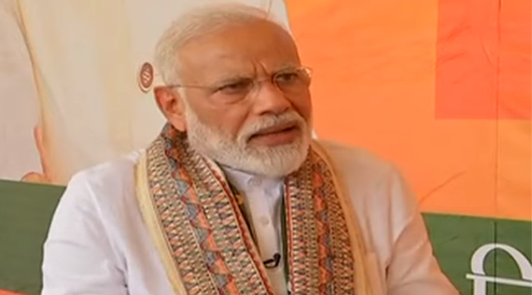 Modi during an Interview