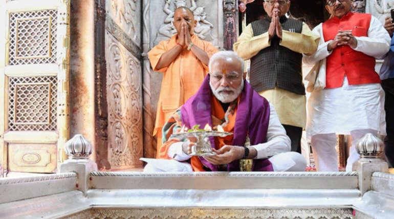 Narendra Modi in Kashi Viswanath Temple