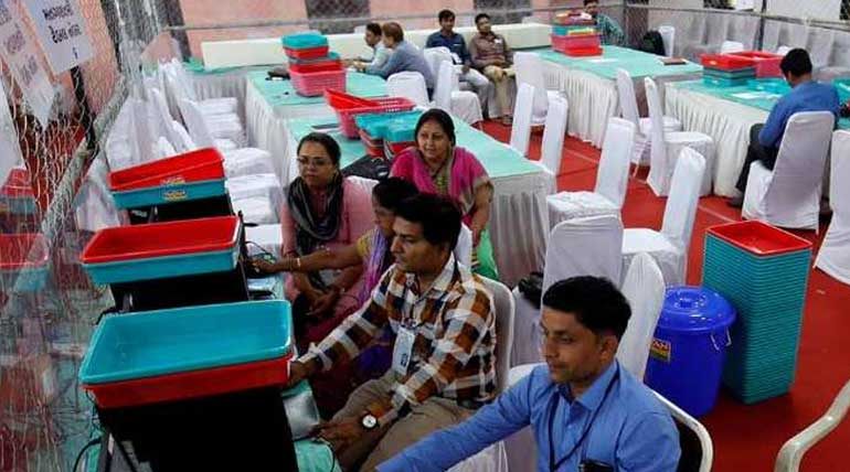 Election Commission start counting of votes for parliamentary polls in 542 seats