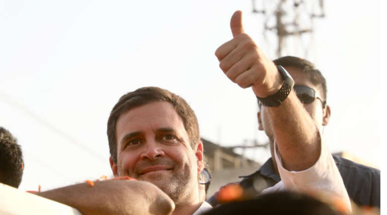 Congress President Rahul Gandhi in a Campaign