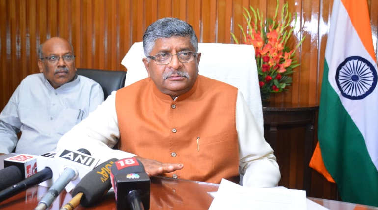 Electronics and Information Technology Minister of India Ravi Shankar Prasad