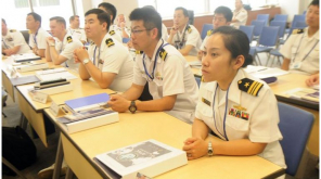 Japan Navy Officials