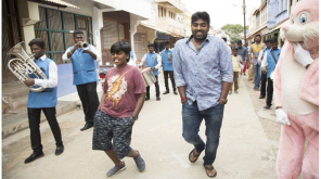 Viay Sethupathi and his son from Sindhubaadh