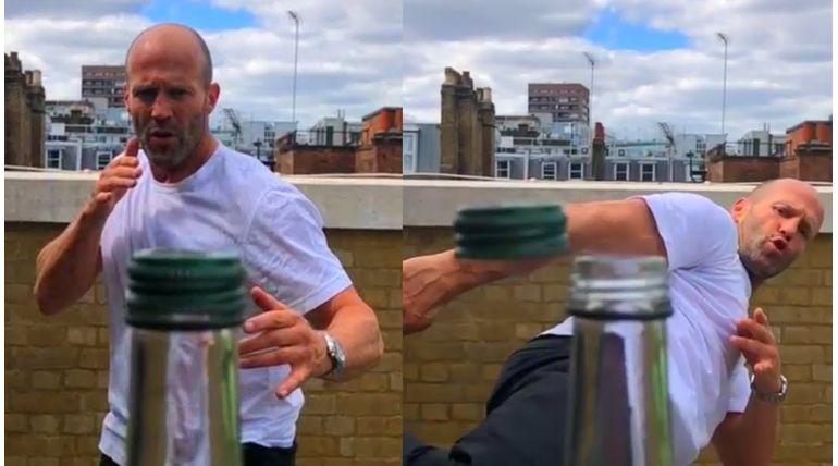 Jason Statham Bottle Cap Challenge