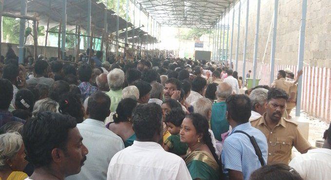 Kancheepuram temple Crowd to Dharshan Lord Athi Varadar