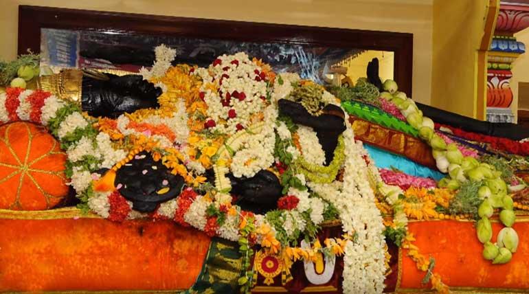 Athi Varadar Vaibhavam: Green Silk Attire Today. Image TalkMedia