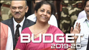 Budget 2019 India. Finance Minister Nirmala Sitharaman