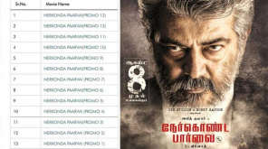 Total 13 Promos of NerKonda Paarvai ready to Hit TV and YouTube