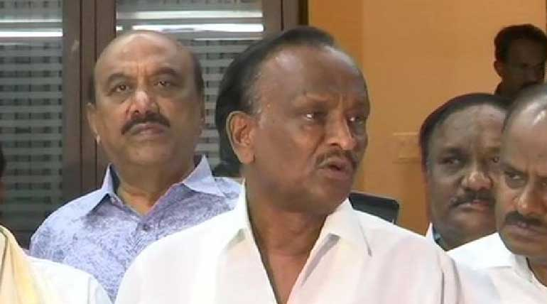 Rebel Congress MLA Nagaraj. Photo ANI