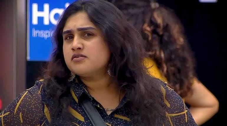 Bigg Boss 3 Tamil Vote. Vanitha Vijaykumar. Image Credit Vijay Television Hotstar