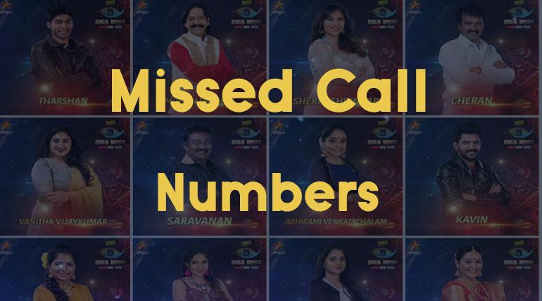 Bigg Boss Tamil Season 3 Vote Contestants Missed Call Numbers. Image Credit Vijay Television Hotstar