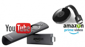 Amazon Prime Video streams in Google Chromecast and YouTube on Fire TV