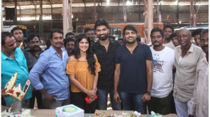 Director Kannan with Atharvaa in Boomerang Sets