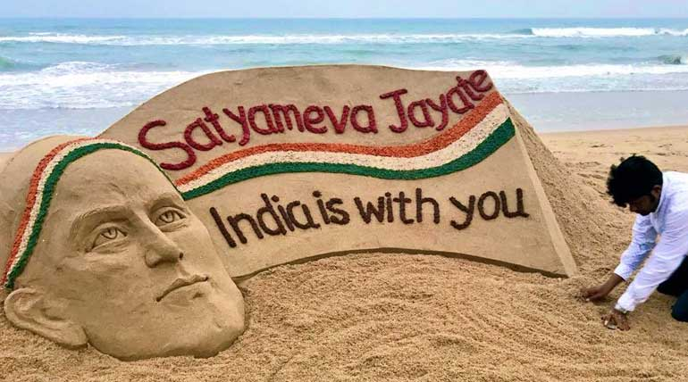 Kulbhushan Jadhav Saved From a Death Sentence. Image Sudarsan Pattnaik