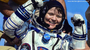 Anne McClain after retun from International Space Station