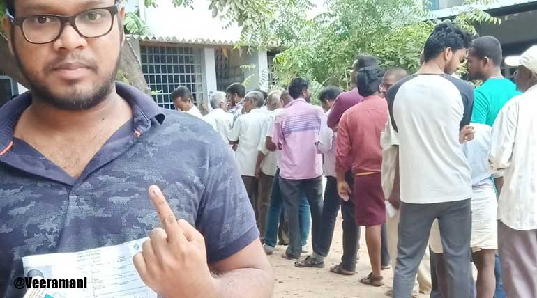 Vellore Election: Young voter Veeramani registered his first time vote to NTK