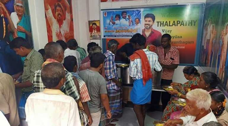 Free Food Distribution by Actor Vijay Fans Across Tamil Nadu Vilaiillavirunthagam