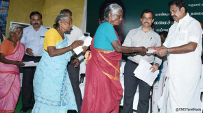 CM Edappadi K Palaniswami receives petitions from people in Salem
