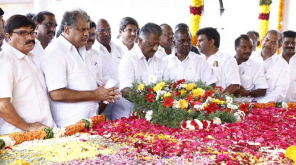 Deputy Chief Minister O Panneer Selvam pays tribute to legendary leader Moopanar